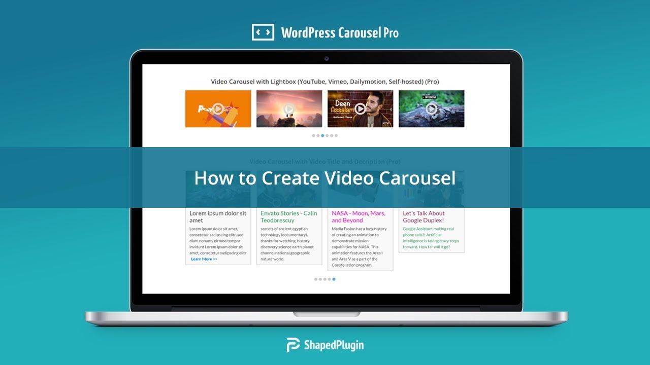How to Create Video Carousel