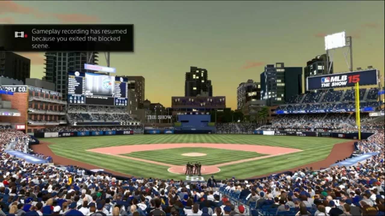 How to get rid of the blocked scene notification on PS4 MLB The Show (MLB  15, MLB 16)