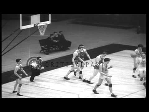 Universal Pictures beats McPherson Globe Refiners in basketball to win Olympics f...HD Stock Footage