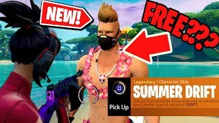 NEW! How to get the SUMMER DRIFT Skin for FREE in Fortnite: Battle Royale *NEW* EASTER EGG!