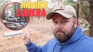 Checking My Hidden Cameras For That Aggressive TRESPASSER!