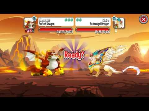 Dragon City: Fervor Dragon, FrozeBeast Dragon and Magma Dragon Game Play (3 Golden Starts)
