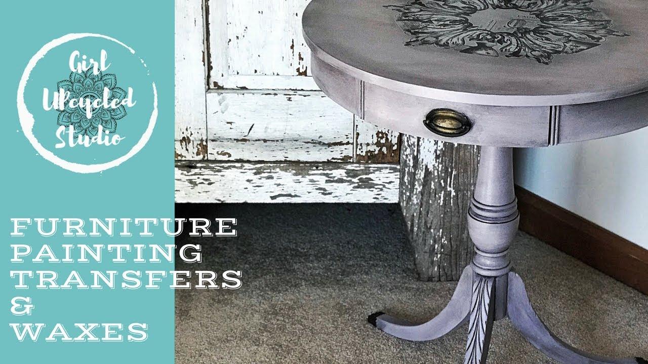 DIY Furniture Painting, Transfers U0026 Wax Blending
