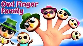 Сова пальца Семья | песня для детей | Nursery Rhyme | Owl Finger Family