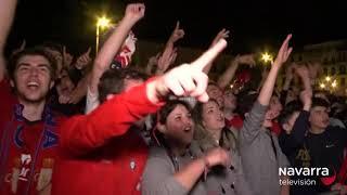 Así celebró Osasuna el ascenso en la Plaza del Castillo