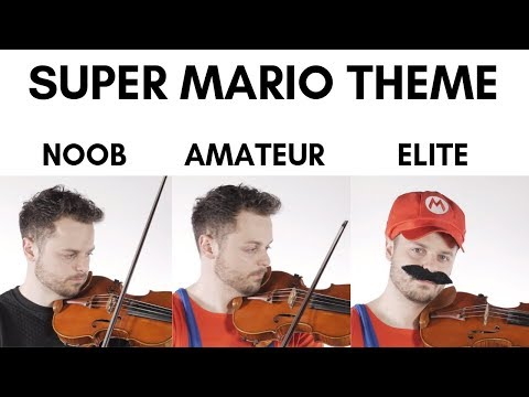 4 Levels Of Mario Music: Noob to Elite thumbnail