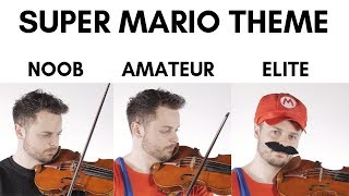 4 Levels Of Mario Music: Noob to El...