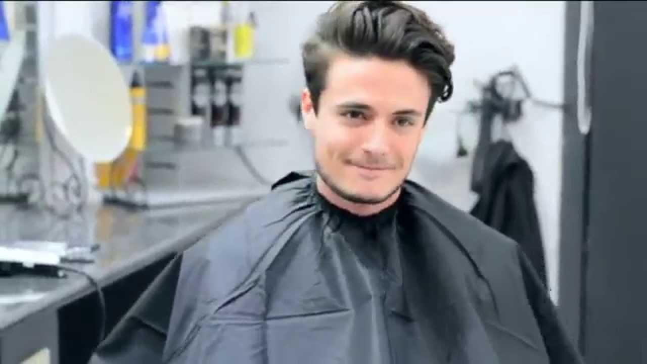 Mens Hair Modern Slick Back Faded Undercut Haircut And