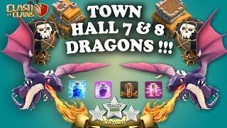 Tips dan Trik COC  - Serangan naga TH 7 dan TH 8 [3 Stars]
