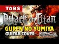 Attack on Titan OP1 – Guren no Yumiya (fingerstyle guitar cover by Kaminari) 進撃の巨人