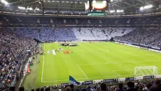 Schalke - Salzburg 3:1 Einlauf + Choreographie