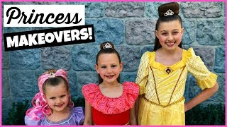 disney princess makeover at disneyland bibbidi bobbidi boutique