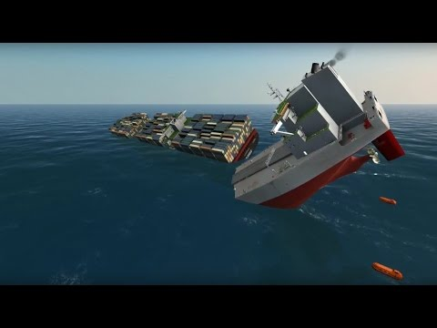 Container ship and Oil Tanker Collide on Atlantic   Ship Simulator Extremes 60FPS