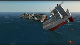 Container ship and Oil Tanker Collide on Atlantic | Ship Simulator Extremes 60FPS