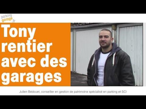 Tony vit de l'immobilier grâce à son achat de 24 garages en banlieue parisienne