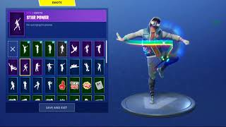 "FORTNITE ""ABSTRAKT"" Skin Showcased with Dances/Emotes 