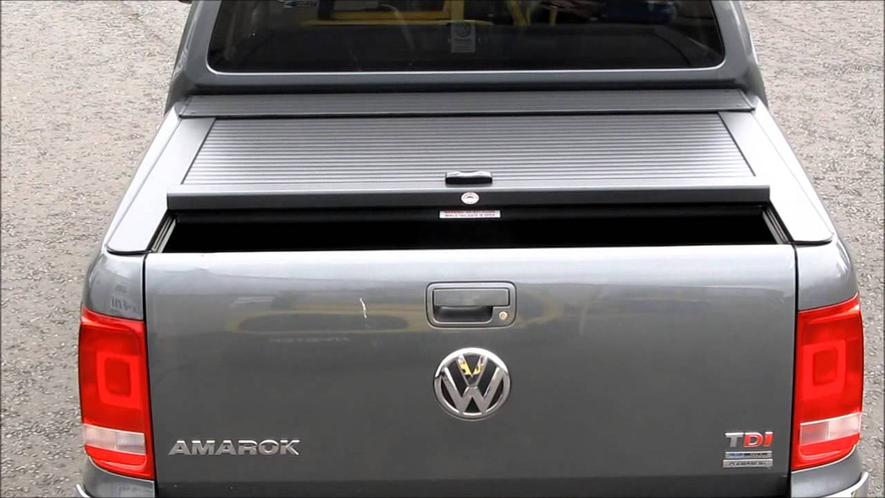 Vw Amarok Automatic Armadillo Roll Top Cover Tonneau Cover Roller Shutter Youtube