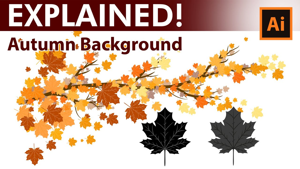 how to create custom autumn leaves brushes in adobe