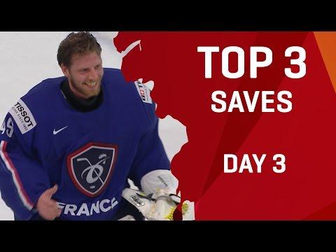 Top 3 Saves - Day 3 - #IIHFWorlds 2017 - 동영상