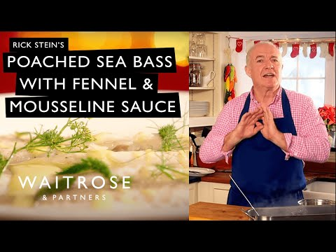 Countdown To Christmas | Rick Stein's Poached Sea Bass With Fennel And Mousseline Sauce | Waitrose