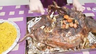 طريقة عمل جدى كامل مشوى فى فرن البوتاجاز مع ارز بسمتى بسهولة  #يوميات_حمدى_ووفاء