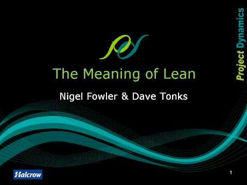 The Meaning of Lean (TMoL) 1 - Introduction