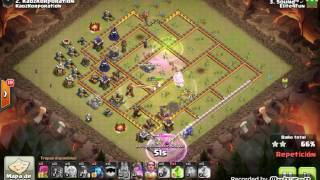 Th11 vs Th11: Queen Walk + Miners (Sound - Elite4Fun - Clash Of Clans)