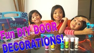 Visit to the Doctor & Fun DIY DOOR DECORATIONS || 22feb2016 //thezunafamily vlogs