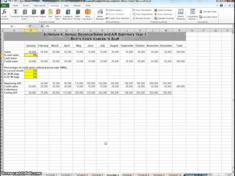 New Business Planning Project Financial Template