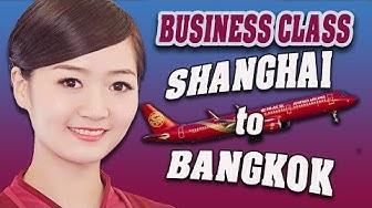 Juneyao airlines - Business class flight from Shanghai to Bangkok