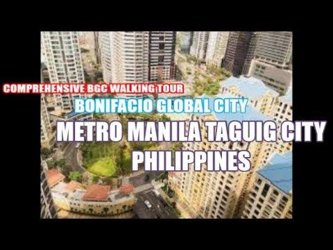 Metro Manila Philippines BGC Taguig Walking tour Burgos Circle to Bonifacio High Street