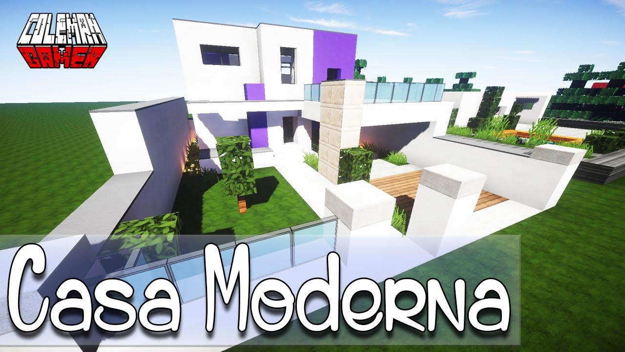 Minecraft como hacer una casa moderna youtube for Casa moderna minecraft easy