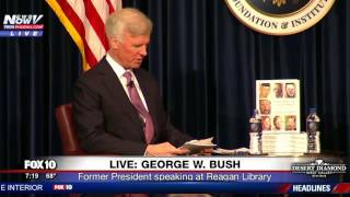 WATCH: George W. Bush Shows His Funny Side During Book Interview (FNN)