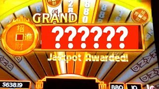 GRAND JACKPOT on $8.80 MAX BET REEL RICHES SLOT MACHINE by SCIENTIFIC GAMES WMS