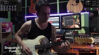 "Francesco Congia plays  preset ""DRAPgales - Snapshot 1: Funk"" For Helix/HX Stomp"