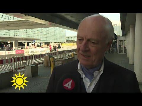 """FN:s Syriensändebud Staffan de Mistura: """"Det är svårt, inte lätt""""  - Nyhetsmorgon (TV4)"""