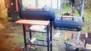 Мангал коптильня барбекю из газовых баллонов своими руками ЧАСТЬ 7