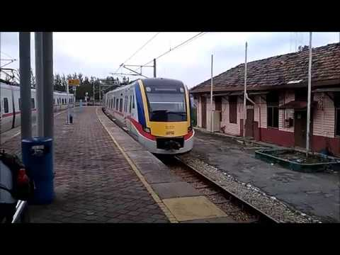 KTM train in Port Klang Malaysia 2017