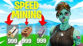*WORKING* HOW TO SPEED MINE IN FORTNITE! (Fortnite: Battle Royale)
