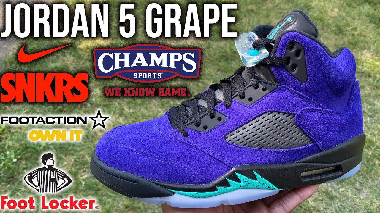 AIR JORDAN 5 REVERSE GRAP LIVE COP! WILL THESE SELL OUT?