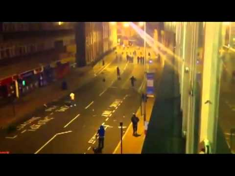 Riots Brake Out In LiverPool 2011