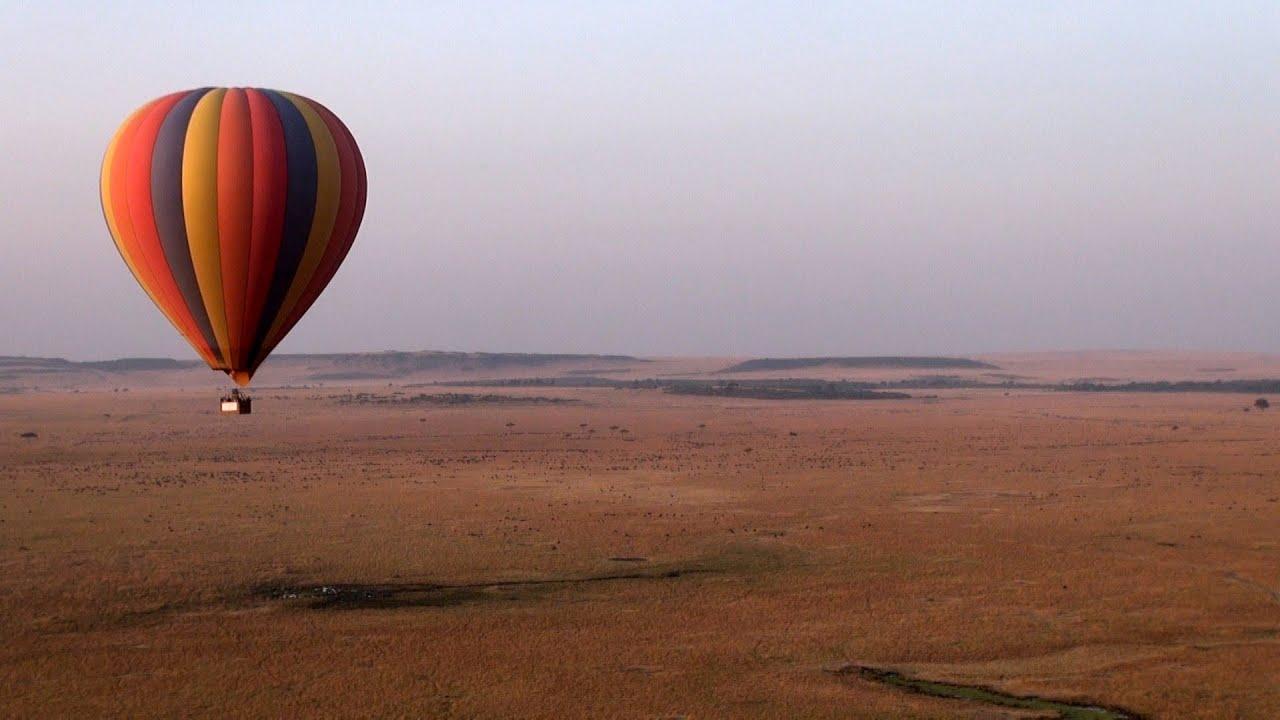 Kenya Hot air balloon safari over Masai Mara  YouTube