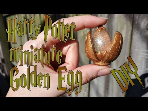 DIY Harry Potter Miniature - The Golden Egg - Polymer clay and Resin