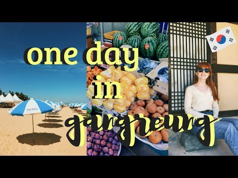 My Seoul to Gangneung Day Trip | KTX, Beaches, and Cafes VLOG