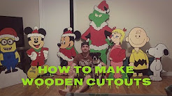 Yard art cut outs on plywood! How to make yard prop cartoons.Christmas Decoration ideas! Cardboard