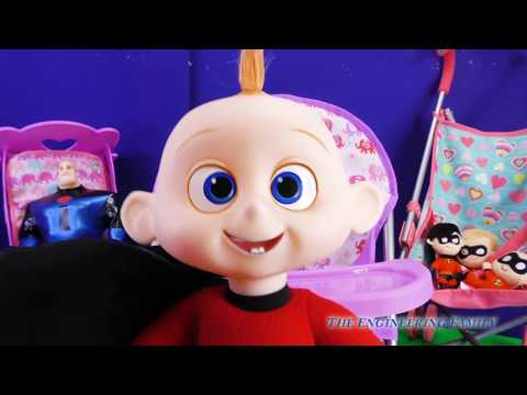 The Incredibles 2 Edna Babysits Incredible Baby Jack Jack with Super Powers and Toys