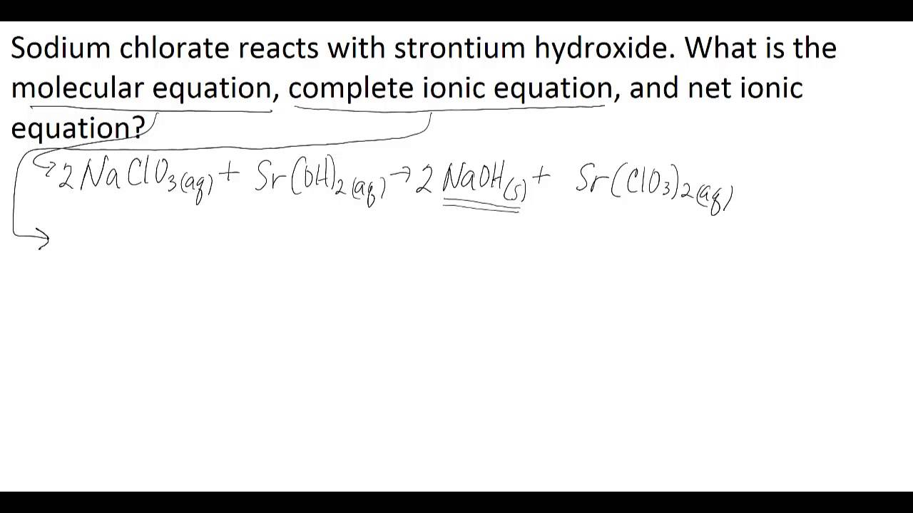 Molecular Complete Ionic and Net Ionic Equations YouTube – Net Ionic Equation Worksheet
