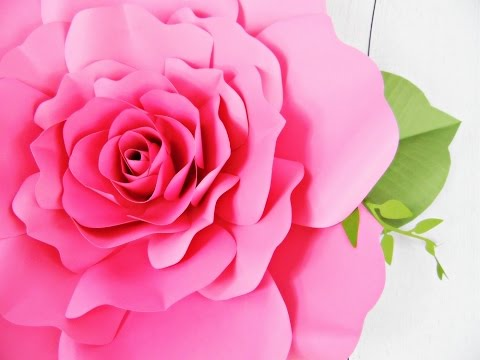 Giant Paper Rose How To Tutorial