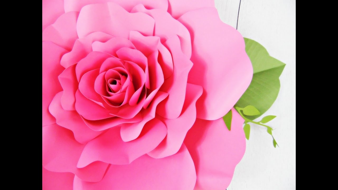 Giant Paper Rose How To Tutorial Youtube