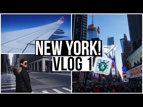 TRAVEL VLOG: COME WITH ME TO NYC! American New York Travel Vlog Part 1!